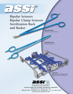 Bipolar Scissors  Bipolar Clamp Scissors  Rack and Basket