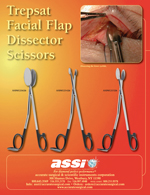 Trepsat Facial Flap Dissecting Scissors