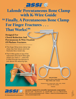 Lalonde® Percutaneous Bone Clamp with K-Wire Guide